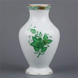 Herend Chinese Bouquet Green Vase #7027/AV