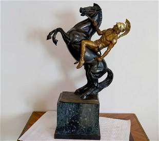 France greek horseman F. Sauinor mid 19th century
