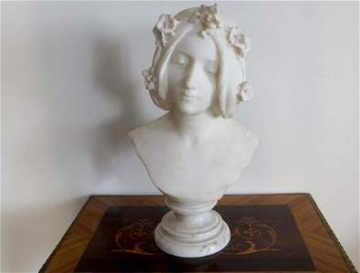 Italian marble bust of a woman