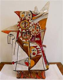 French figurine of a deity in the style of Picasso