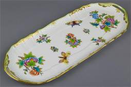 Herend Queen Victoria Rocaille Long Serving Tray