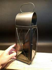 Tin Glass Wall or table Colonial Candle Lantern