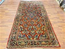 Antique Persdian sarouk rug-4355