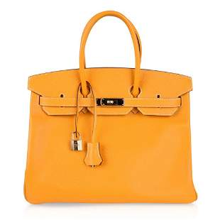 Hermes Birkin 35 Bag Yellow Jaune Candy Limited Edition