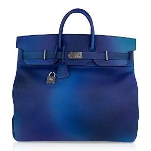Hermes Hac Cosmos 50 Bag Blue Nuit / Violet Limited