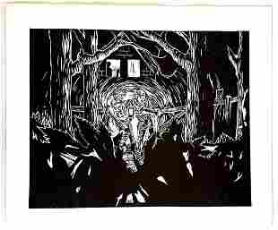 Peter Wachtler - Untitled(Nightly Scene Forest) 2015