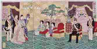 Nobukazu: The Emperor Receiving Guests