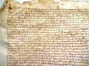 1514 Large Spanish Vellum Manuscript