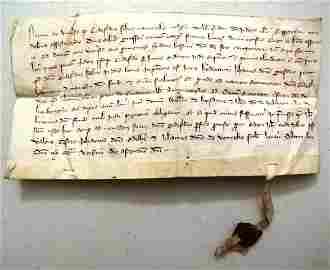 1320 Vellum Legal Manuscript With Seal