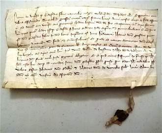 1320 Vellum Legal Manuscript With Seal