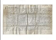 1560 Dutch Vellum Manuscript Legal Document