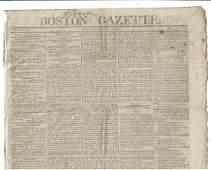 1805 Newspaper American Trade Napolean Poem