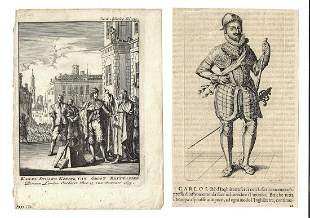 18th C Two Engravings Charles I Execution