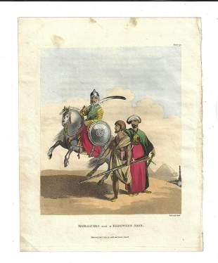 1803 Hand Colored Engraving Bedouins