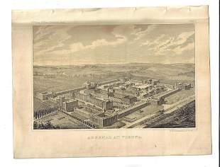 1861 Lithographs Arsenal at Vienna and Sebastopol