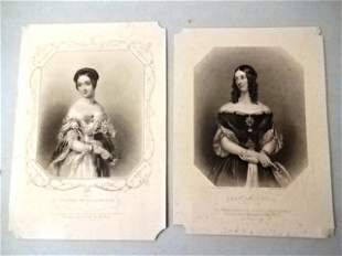 c1850 Group of Prominent English Women Engravings