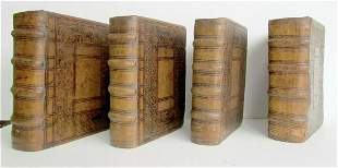 1617-1629 4 VOLUMES LOT antique ATTRACTIVE BINDINGS