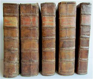 1714 5 VOLUMES C. LAPIDE OLD TESTAMENT BIBLE COMMENTARY