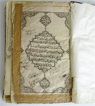 QURAN 19th CENTURY antique KORAN in ARABIC and PERSIAN