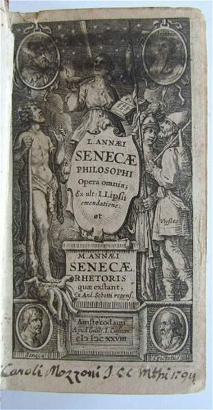 1628 SENECA ANTIQUE in LATIN Opera omnia Rhetoris quae