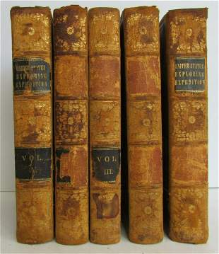 1850 5 VOLUMES UNITED STATES EXPLORING EXPEDITION