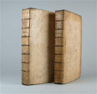 1718 2 volumes VELLUM BOUND MASSIVE FOLIOS