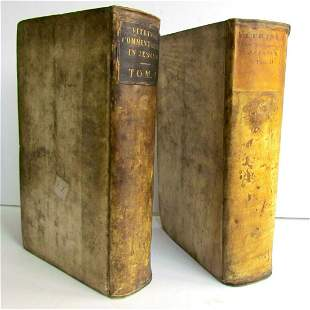 1724 2 VOLUMES Commentary on Isaiah by C.Vitringa