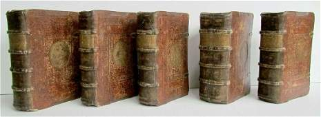 1585 SET of 5 SERMONS for WHOLE YEAR in LATIN antique