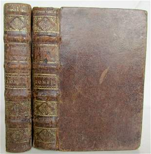 1699 2 VOLUMES MEMOIRS D'EDMOND LUDLOW WARS OF THREE