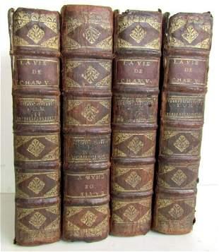 1710 4 volumes SET HISTORY of EMPEROR CHARLES V antique