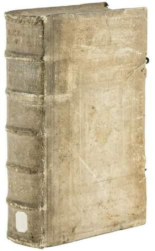 1681 ANTIQUE PIGSKIN BOUND FOLIO Lectiones Morales in