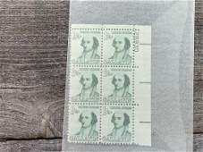 1 1/4 Cent A Gallatin Scott # 1279 Plate Block