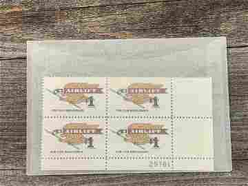 1 Dollar Airlift Scott # 1341 Plate Block
