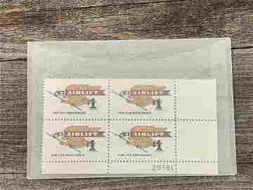 1 Dollar Airlift Scott # 1341 Plate Block