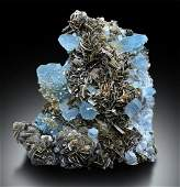 Museum Grade Aquamarine Specimen with Mica from Gilgit