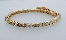 14 kt. Pink gold - Bracelet - 7.29 ct Diamonds - MIX