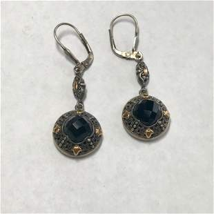 Greg Anthony, Sterling Silver/18k Yellow Gold Pierced