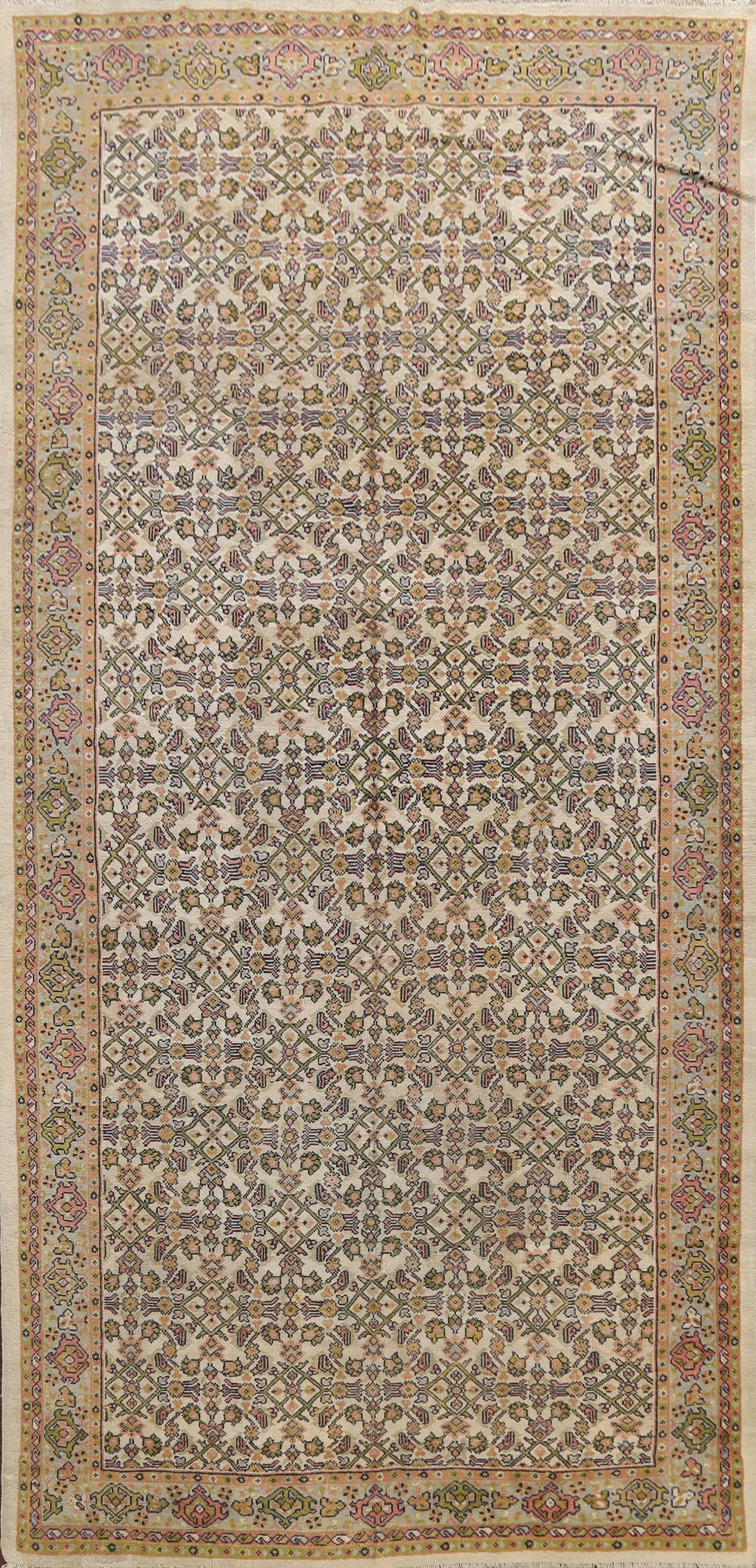 Antique Vegetable Dye Mahal Persian Area Rug 7x12