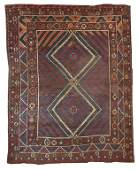 Handmade antique Turkish collectible Bergama rug 5.9' x