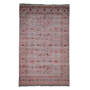 Wool And Silk Kashan Dense Weave Hand-Knotted Pure Wool