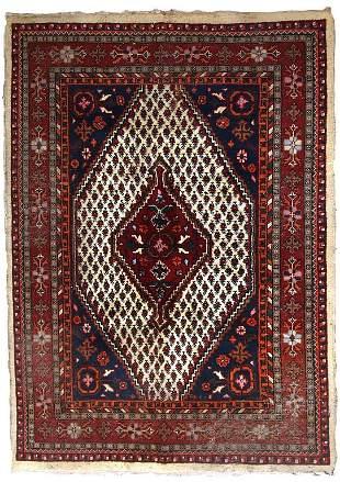 Handmade vintage Persian Hamadan rug 5.7' x 7.9' (175cm
