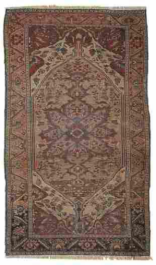 Hand made antique Persian Sarouk Farahan rug 3.1' x