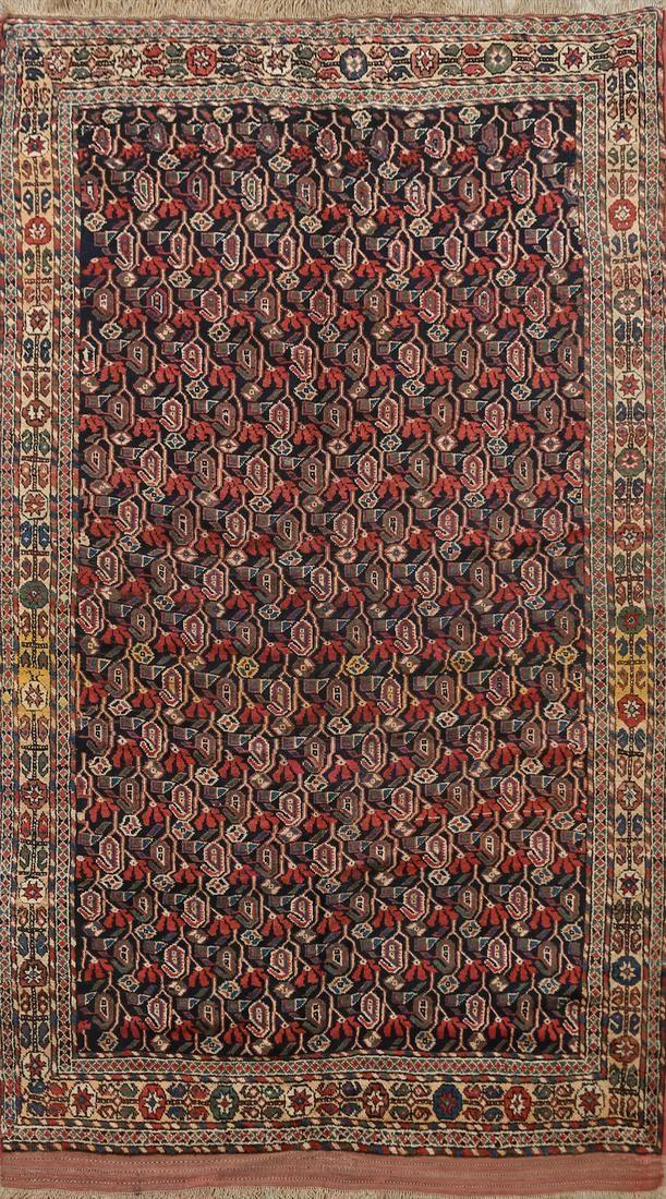 Antique 100% Vegetable Dye Bidjar Persian Area Rug 5x8