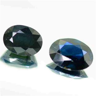 7.60 Cts Best Pair Dark Blue Natural Sapphire