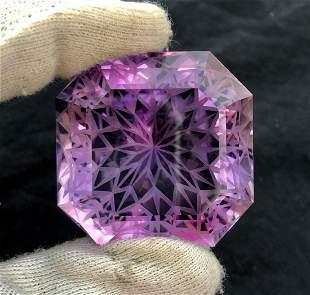Precision Flower Cut Amethyst Loose Gemstone Big Size -