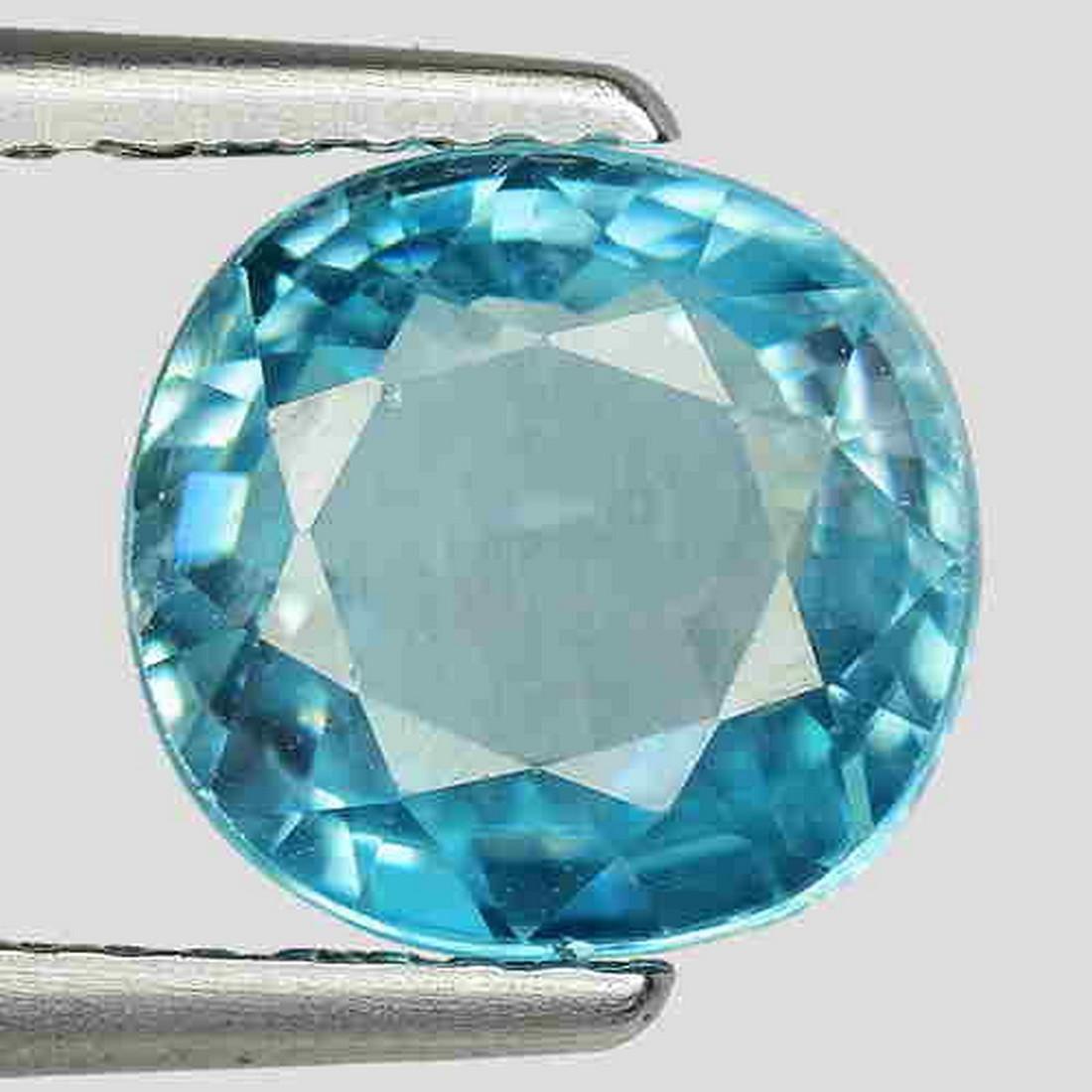 3.50Cts Splendid ! Earth Mined Natural Blue Zircon