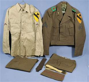 WWII 1st Cavalry IKE Jacket + Shirt, Pants, etc.