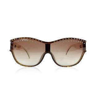 Christian Dior Vintage Brown Crystal Sunglasses 2438