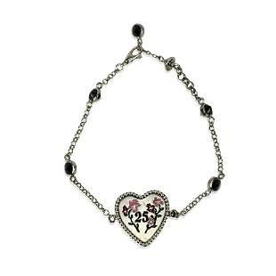 Gucci Sterling Silver Enamel Heart Bosco & Orso