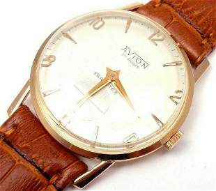 Authentic! Ferrotex Avion 18k Yellow Gold Manual Wind